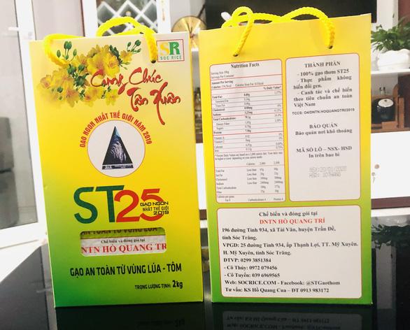 Gạo ST25 được doanh nghiệp của ông Cua đưa ra thị trường tiêu thụ