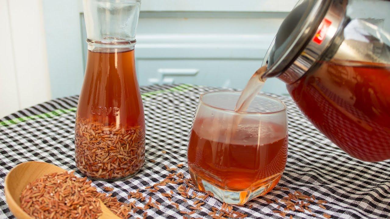 Cách nấu nước trà gạo lức tím bằng bình (ấm) đun siêu tốc một nhanh và đơn giản