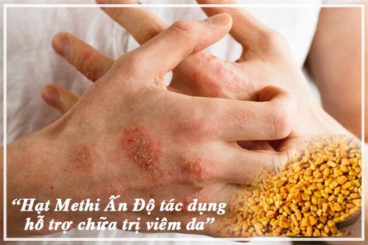 Hạt Methi hỗ trợ chữa trị bệnh viêm ngoài da