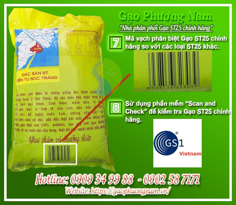 Cách phân biệt gạo ST25 chính hãng được phân phối tại Hà Nội