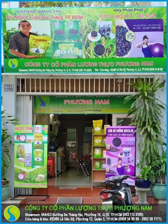 Cửa hàng bán gạo tết Tân Sửu 2021