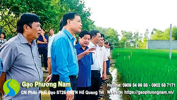 Ðoàn công tác Bộ NN&PTNT thăm ruộng lúa giống ST25