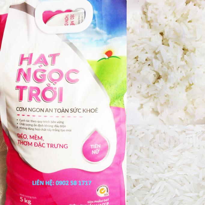 Gạo hạt ngọc trời Tiên Nữ - Túi 5kg - Bao bì cũ