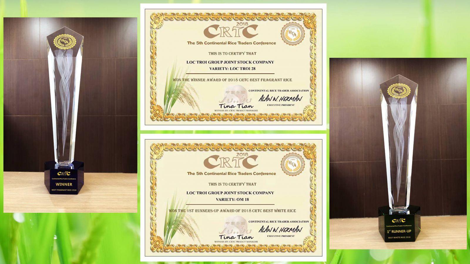 Giải Nhất Tại Hội nghị Thương Mại Lúa Gạo Châu Lục