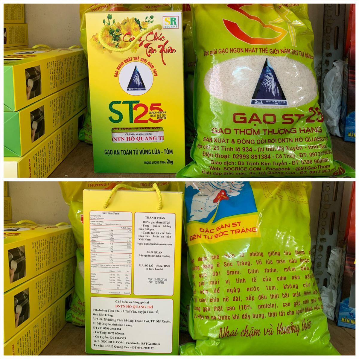 Bao bì gạo ST25 chính hãng