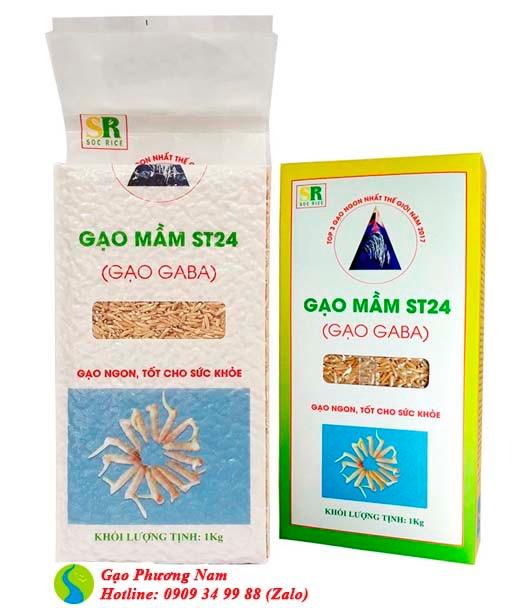 Gạo mầm GABA ST24 (túi 1kg hút chân không)