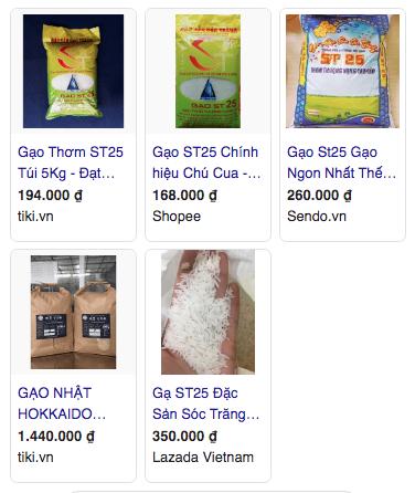 Gạo ST25 bán tràn lan khó phân biệt được thật giả