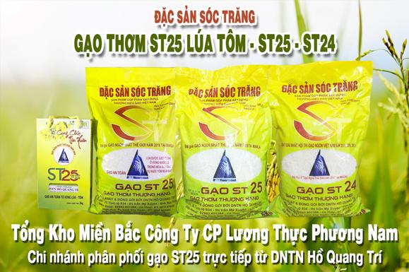 Gạo Phương Nam - Chi nhánh phân phối gạo ST25 trực tiếp từ DNTN Hồ Quang Trí