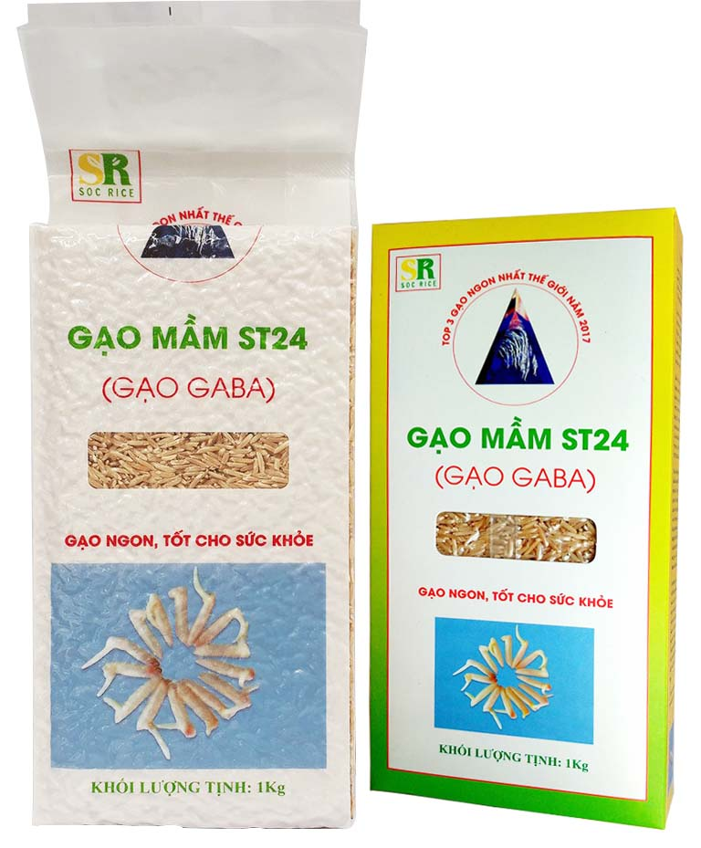 Gạo mầm GABA Sóc Trăng ST24 chính hãng - Hộp1kg