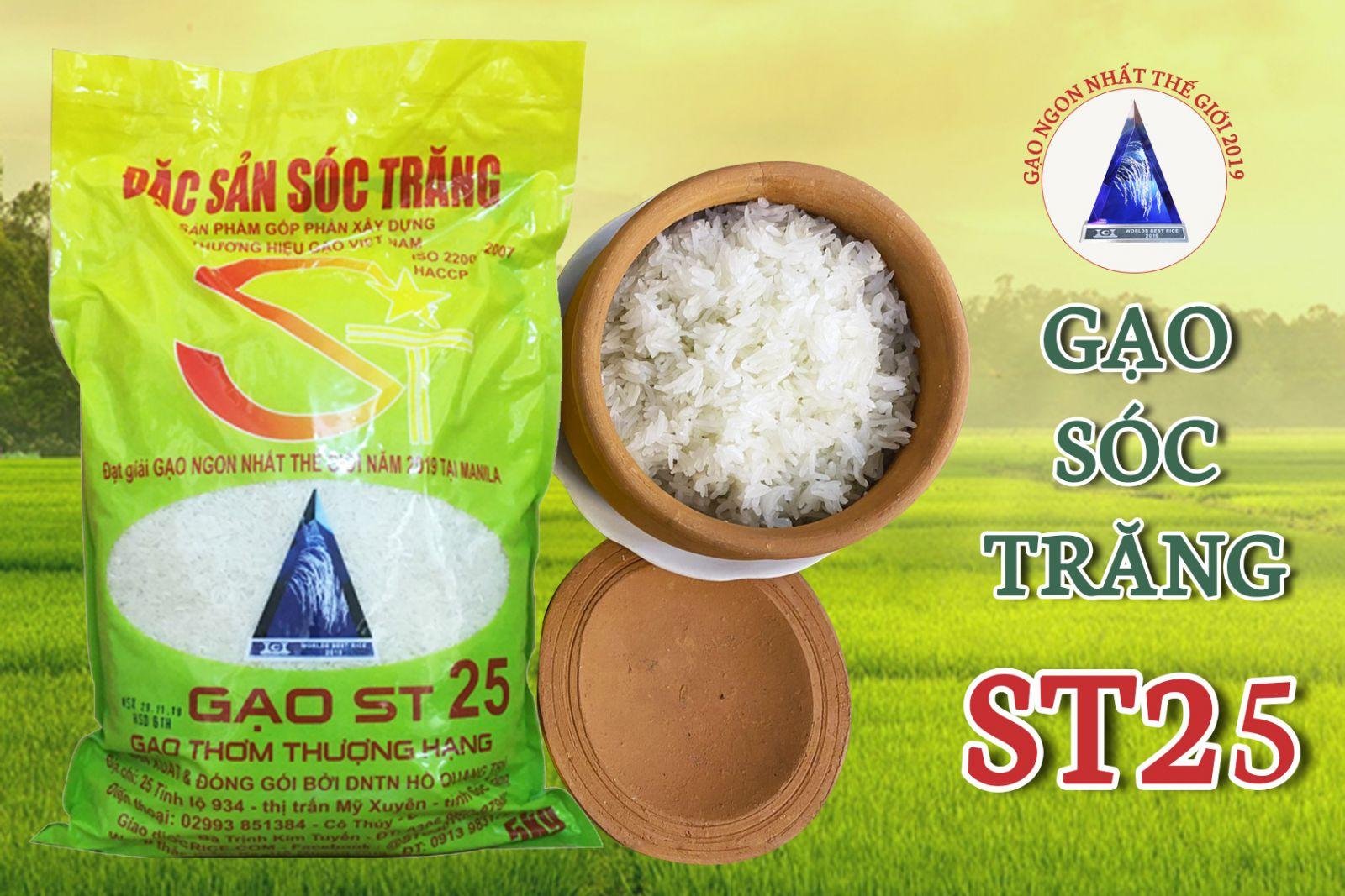 Gạo Sóc Trăng ST25 chính hãng - Cơm ngon dẻo không bị bung hạt