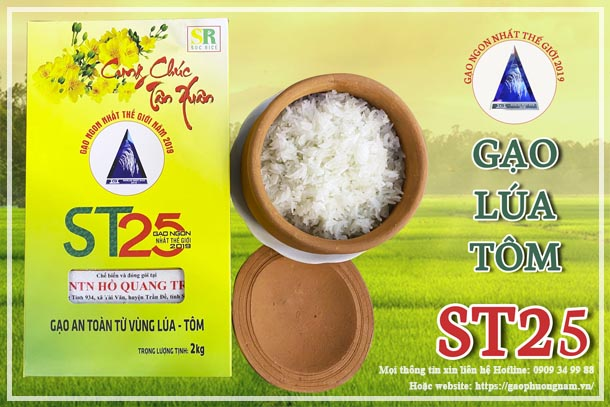 Gạo lúa tôm ST25