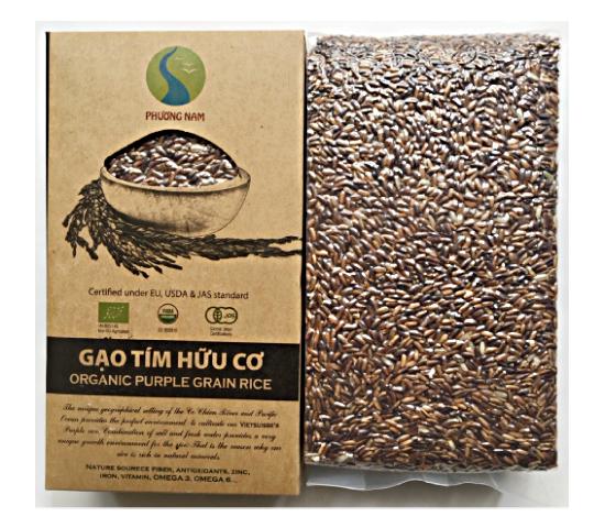 Gạo tím hữu cơ gói 1kg (hút chân không)