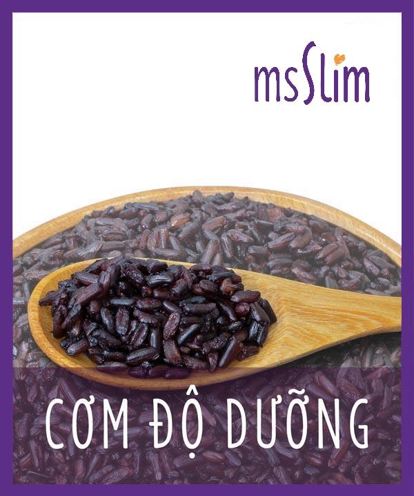 Cơm Gạo Lứt Tím Ms Slim còn được gọi là Cơm độ dưỡng